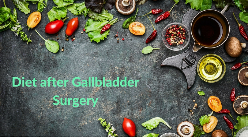What is the recommended diet after gallbladder surgery?